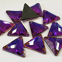 Стразы пришивные SWARO Треугольник  16мм. Volcano Purple