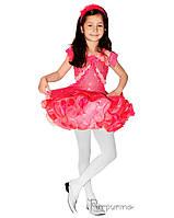 Детский карнавальный костюм ЦВЕТОЧЕК-РОЗА Код 653