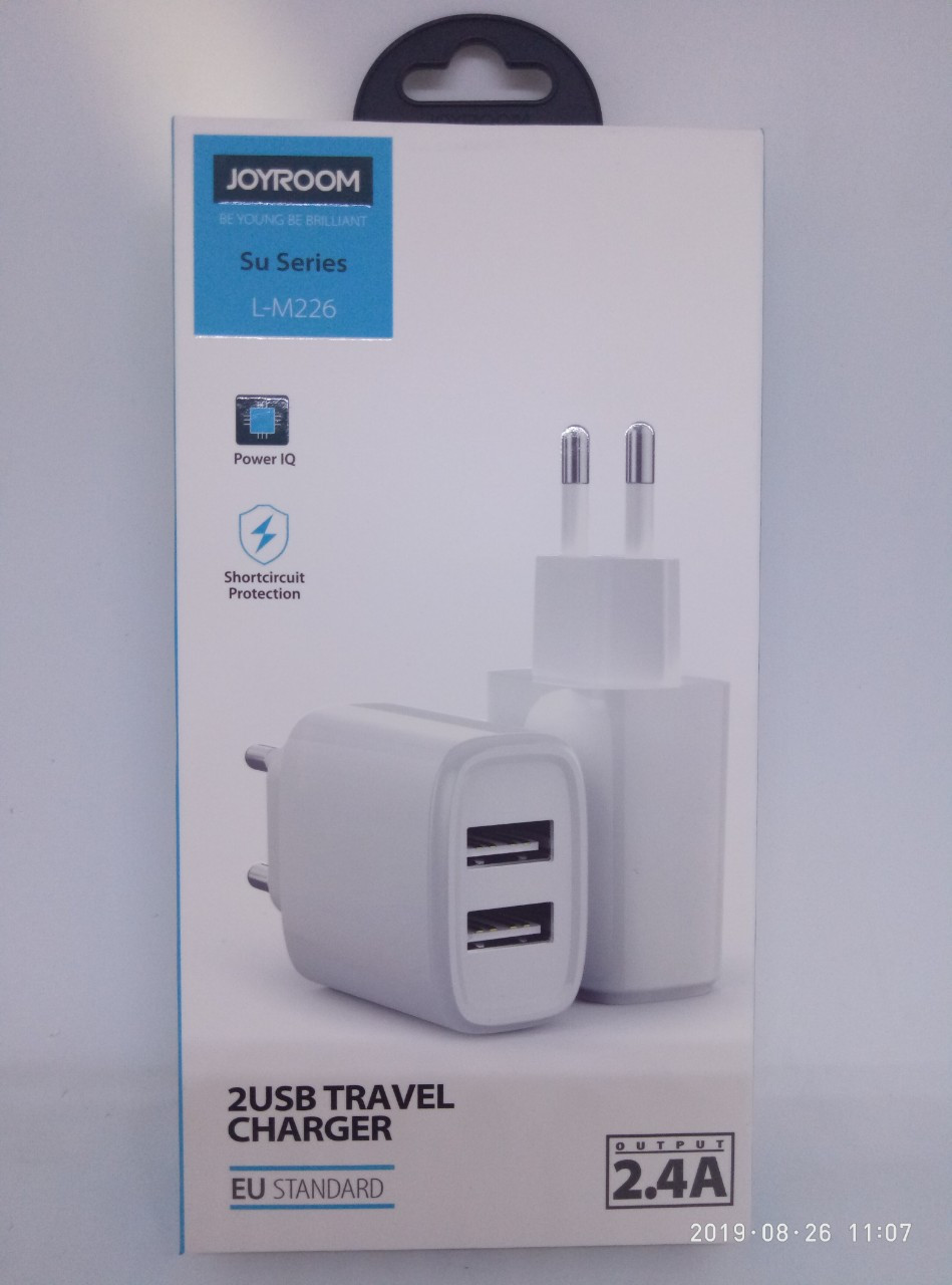 Адаптер USB JOYROOM L-M226 2.4A 2USB