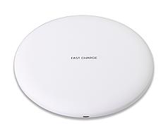 Беспроводное зарядное устройство Qitech Fast Charger с технологией Qi, цвет белый