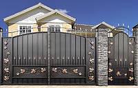 Ворота и калитка в комплекте металлические