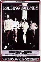 "Металлическая / ретро табличка ""The Rolling Stones (Second Show)"""