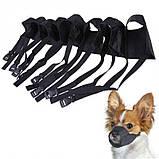 Черный намордник для собак размер № 1, фото 8