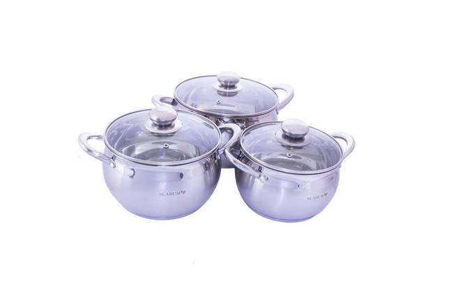 Набор посуды нержавеющий Slarum - 3шт (2 x 3 x 4л), фото 2