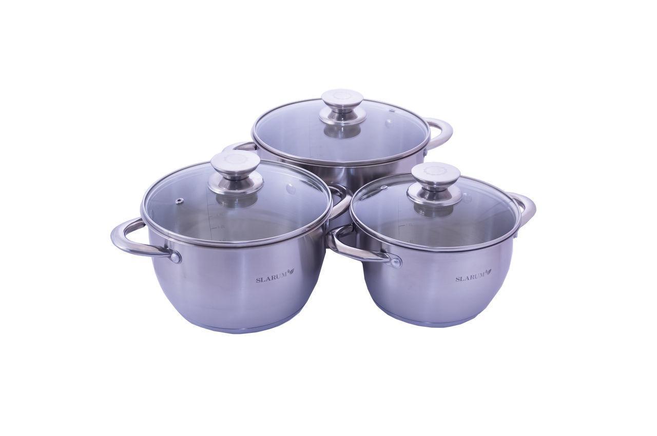 Набор посуды нержавеющий Slarum - 3шт (2 x 3 x 4л)