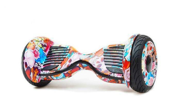 Гироскутер Allroad 10.5' Future Digital Colored skull (Приложение к телефону, Самобаланс, Led,Bluetooth,сумка)