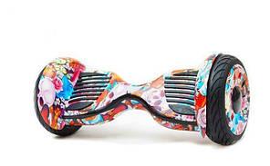 Гироскутер Allroad 10.5' Future Digital Colored skull (Приложение к телефону, Самобаланс, Led,Bluetooth,сумка), фото 2