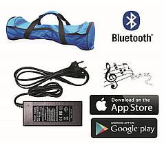 Гироскутер Allroad 10.5' Future Cosmos Blue (Приложение к телефону, Самобаланс, Led,Bluetooth,сумка), фото 3