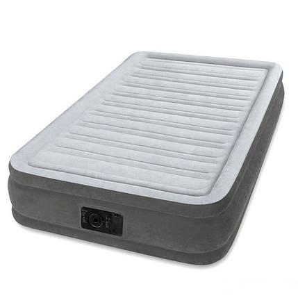 Односпальная надувная кровать Intex + встроенный электронасос  191х99х33 см (67766), фото 2