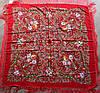 Платок красный в народном стиле (611001), фото 2
