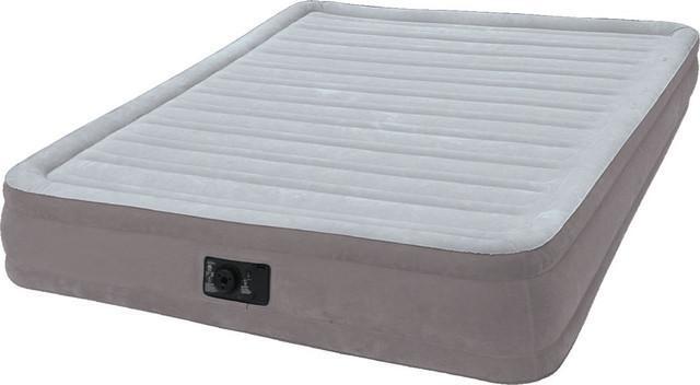 Надувная кровать Intex Comfort-Plush Mid Rais Airbed + встроенный электронасос 191х137x33 см (67768)