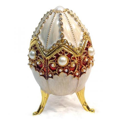 Шкатулка Яйцо для подарка металл