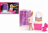 Детская мебель для кукол Gloria ванная комната с душевой кабинкой 98020
