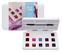 Набор акварельных красок, VAN GOGH, Pocket box PINKS & VIOLETS, 12 кювет+кисточка, пластик, Royal Talens