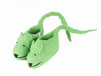 Детские тапочки пинетки шерстяные Мышки зеленые