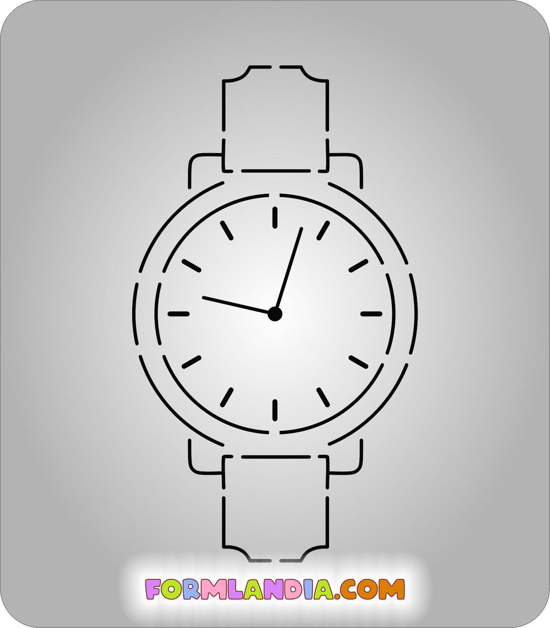 Трафарет + формочка-вырубка для пряников Наручные часы