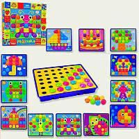 Мозаика для малышей KI-7060  12 картинок, 38 деталей, с крупными деталями