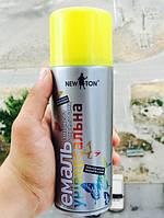 Аэрозольная краска (краска в баллончике) Лимонно-жёлтая RAL 1016 400 мл (New Ton)