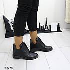 Женские ботинки черного цвета, из эко кожи 41 ПОСЛЕДНИЙ РАЗМЕР, фото 2