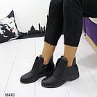Женские ботинки черного цвета, из эко кожи 41 ПОСЛЕДНИЙ РАЗМЕР, фото 3