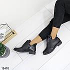 Женские ботинки черного цвета, из эко кожи 41 ПОСЛЕДНИЙ РАЗМЕР, фото 4