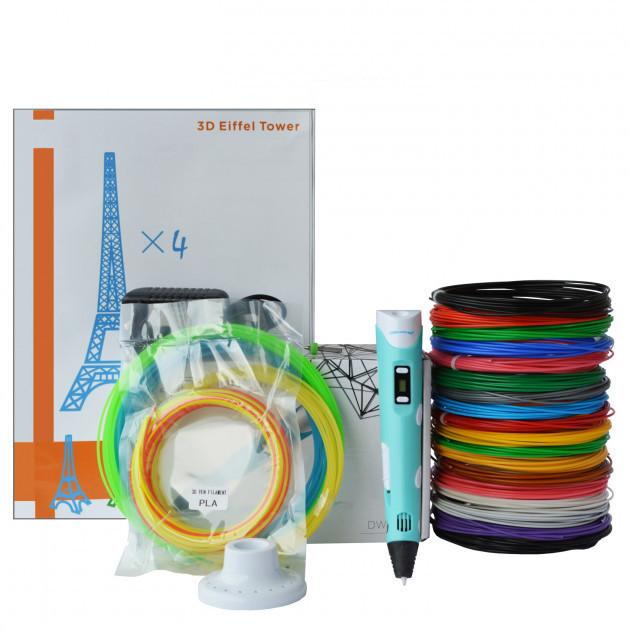 3D-ручка Dewang X2 Blue с Набором ABS Пластика 240 метров (16 цветов) и Аксессуары