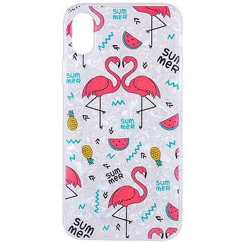 """Накладка Glue Case Фламинго для Apple iPhone X (5.8"""") / XS (5.8"""")"""