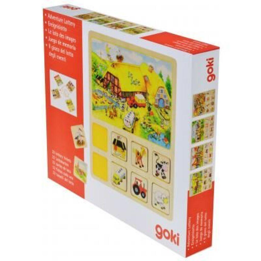 Настольная игра Goki Лото Наш маленький город (56740), фото 1