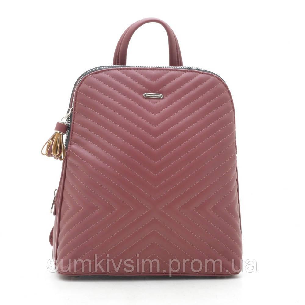 Рюкзак женский David Jones   бордового цвета 6146-2