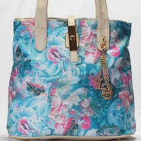 Женская сумка  Gilda Tohetti  бежево - голубого цвета