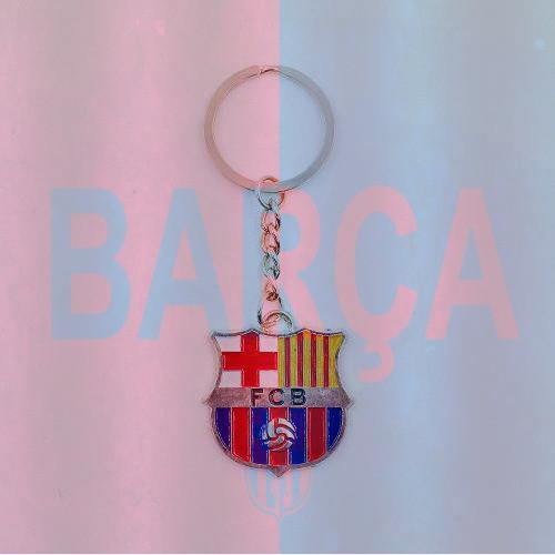 Стильный брелок для ключей  с эмблемой футбольного клуба Barselona
