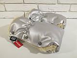 Рукавички-Муфта на коляску Z&D New Еко шкіра (Срібний), фото 2