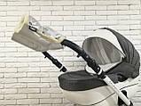 Рукавички-Муфта на коляску Z&D New Еко шкіра (Срібний), фото 7