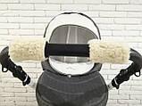 Рукавички-Муфта на коляску Z&D New Еко шкіра (Срібний), фото 9