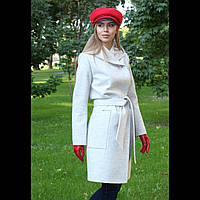 Пальто с капюшоном цвета мрамор р. 42-56