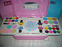 Детский набор декоративной косметики в чемодане на колесах Barbie лак для ногтей, блеск для губ, тени, фото 3