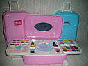 Детский набор декоративной косметики в чемодане на колесах Barbie лак для ногтей, блеск для губ, тени, фото 4