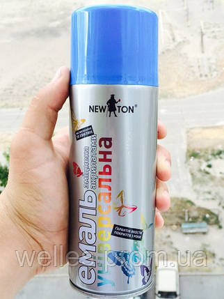 Краска аэрозольная (Ньютон) Голубая RAL 5015 400 мл (New Ton), фото 2