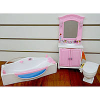 Детская мебель для кукол Gloria ванная комната 24020