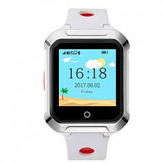 """Детские умные часы Robot A20 смарт-часы с GPS 1.44"""" 500mAh Бело-Красный"""