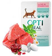 Консервы Optimeal ( Оптимил ) в ассортименте для взрослых и пожилых кошек всех пород 85 гр * 12 шт