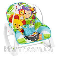 Кресло качалка шезлонг Сафари Fisher-Price Infant-to-Toddler Rocker