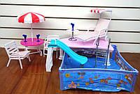 Детская мебель для кукол Gloria отдых у бассейна 2578