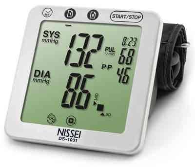 Измеритель АД электр. DS-1031 NISSEI автомат с збильшен.манжетою + адаптер, фото 2