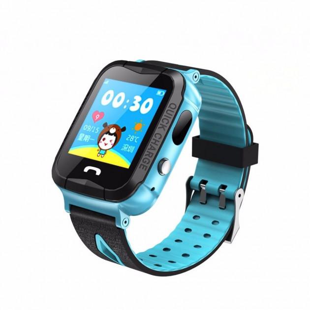 Водонепроницаемые часы с GPS Smart Baby Watch Aqua IQ600-PLUS Голубой