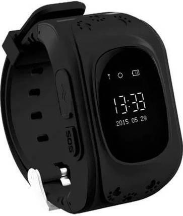 Детские часы-телефон с GPS WONLEX Q50 Black, фото 2