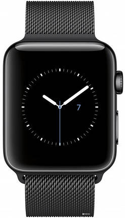 Apple Watch Series 3 GPS + Cellular 38mm Space Black Stainless Steel with Space Black Milanese Loop (MR1H2), фото 2