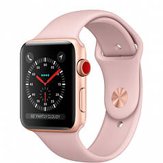 Apple Watch Series 3 GPS + Cellular 42mm Gold Aluminum with Pink Sand Sport Band (MQK32)