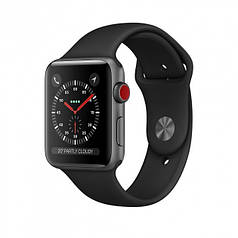 Apple Watch Series 3 GPS + Cellular 42mm Space Gray Aluminum Case with Gray Sport Band (MR302)