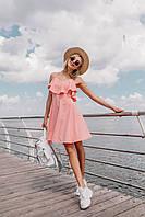 Лёгкое платье (цвет - пудра, ткань - софт) Размер S, M, L (розница и опт), фото 1